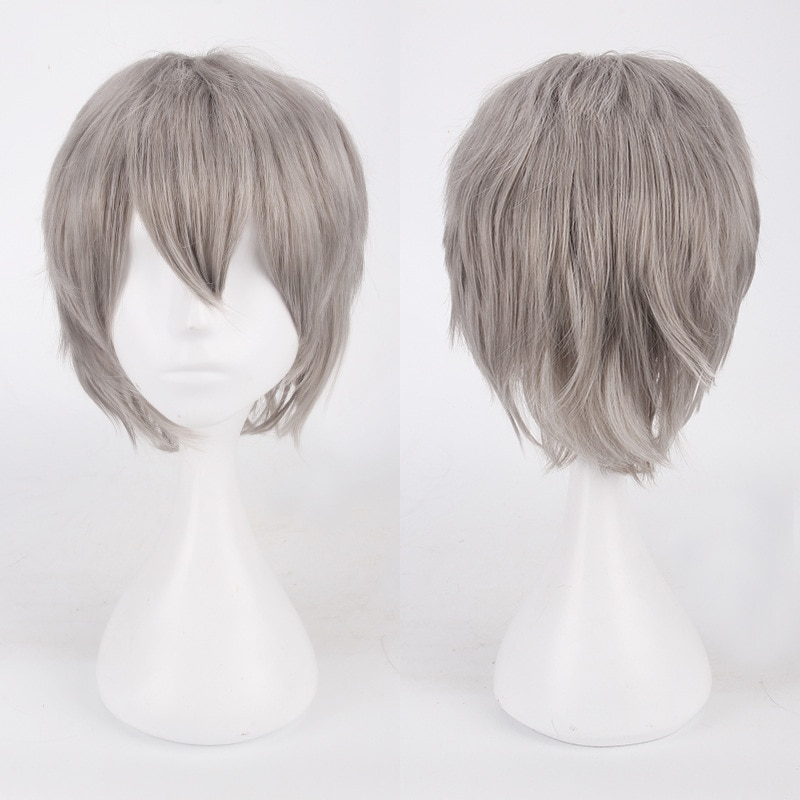 Short Cosplay Wig Halloween-Costume Synthetic-Hair Peruca Party Fashion Cheap Free-Wig-Cap