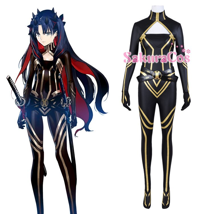Costume Sexy Jumpsuit Rin for Women Full-Set Cosplay Fate Grand-Order Archer-Tohsaka