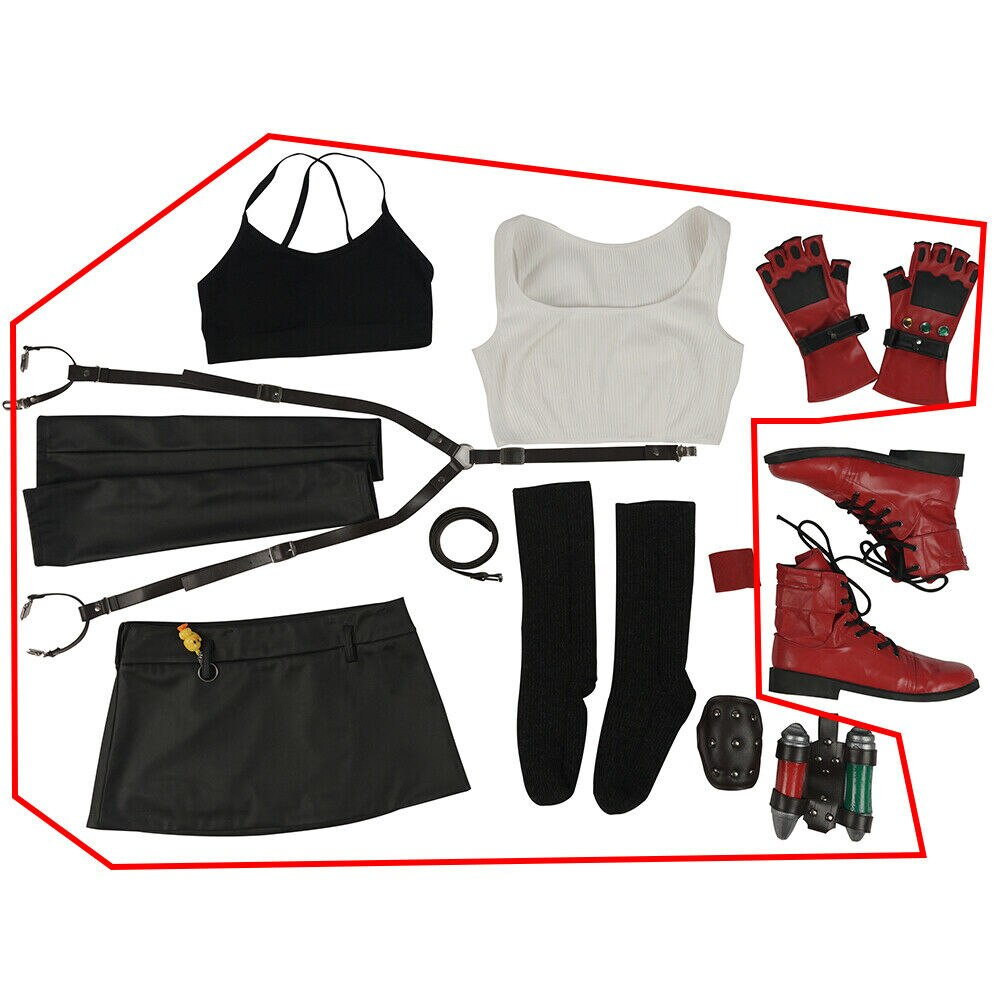 COSPLAY Tifa Lockhart-Costume Christmas-Outfit Anime Game Final Fantasy Halloween Adult
