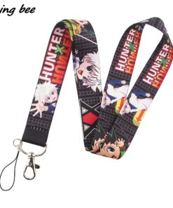 Lanyard Necklace Usb-Badge-Holder Friends Key-Chain Cartoon Anime Cat for Child Students