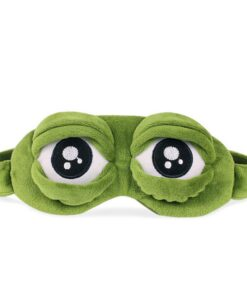 Eyes-Cover 3d-Eye-Mask Frogs Sleeping-Rest Funny Gift Anime Green Cartoon Cute The-Sad