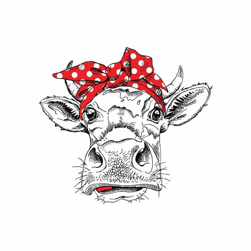 Funny Cow with Bow-knot Car Stickers Waterproof 3D Accessories Vinyl Fine Decal Graphics
