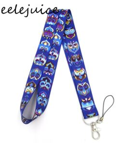 Work-Card-Holder Accessories Lanyards Decorations Gifts Id-Name Anime Cartoon Owl Bus
