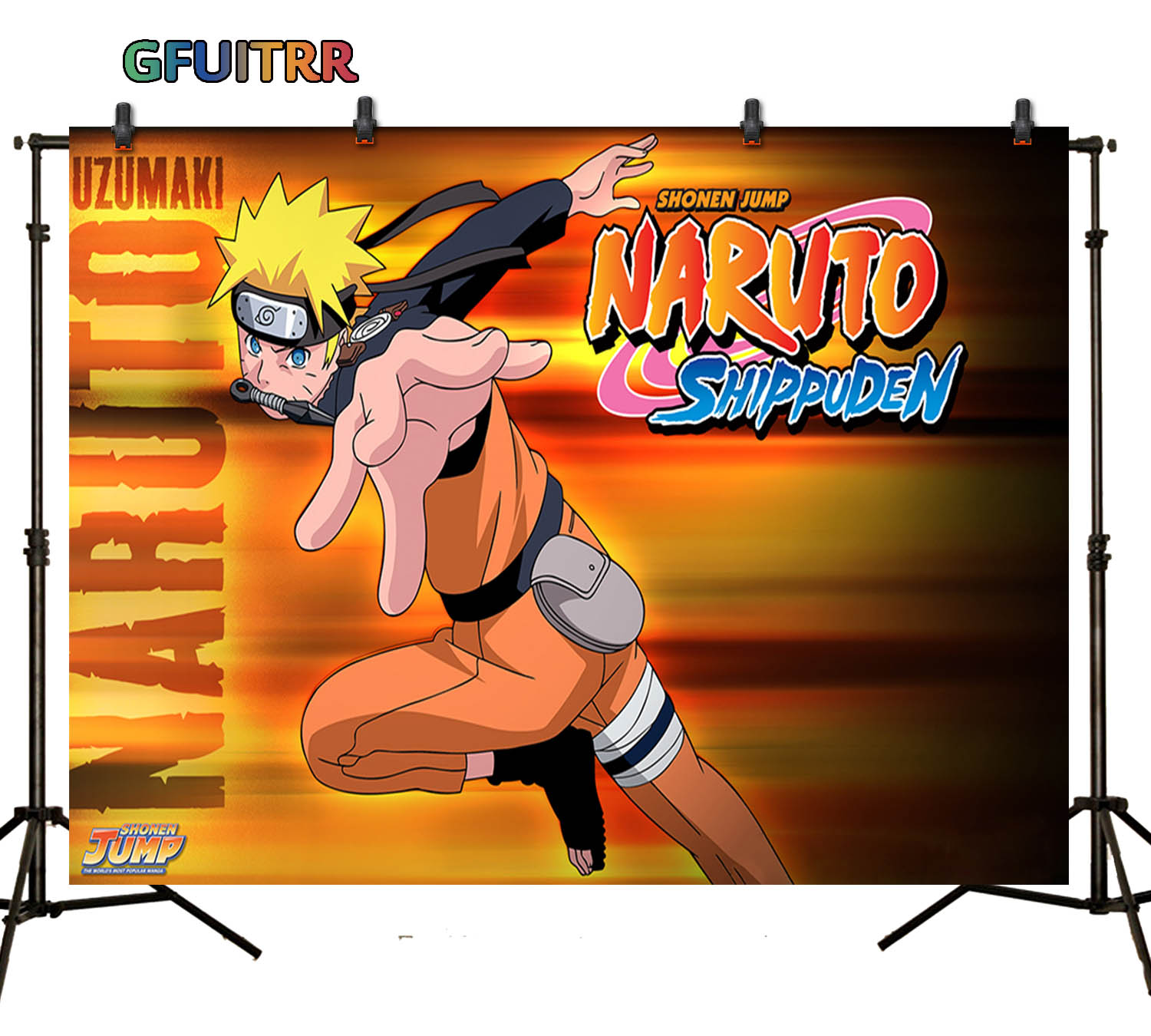 Background Photo-Decorate-Props Naruto GFUITRR Birthday-Party Popular-Japanese-Anime