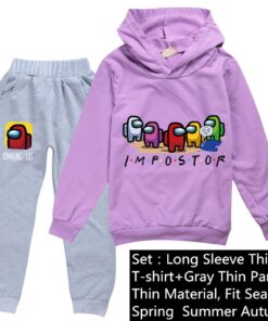 Baby Tracksuits Amongus-Suit Clothes Kids Game-Among Anime Children Pants Spring Girl