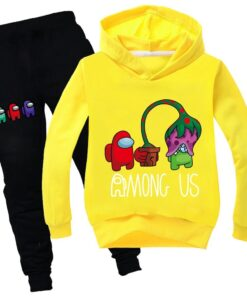 Baby Tracksuits Amongus-Suit Clothes Kids Game-Among Pants Spring Girl Boys Cartoon Children