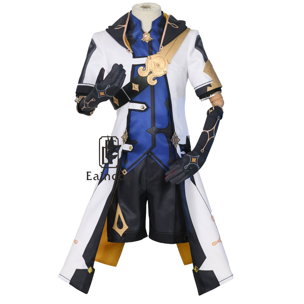 Shoes Outfit-Uniform Genshin Impact Albedo Cosplay Wigs Costume Game-Suit Halloween Carnival