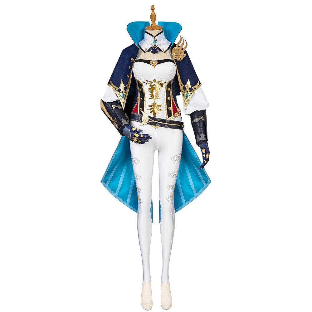 Cosplay Costume Impact-Jean Anime Genshin Suit-Uniform Wigs Outfit Halloween Party Game