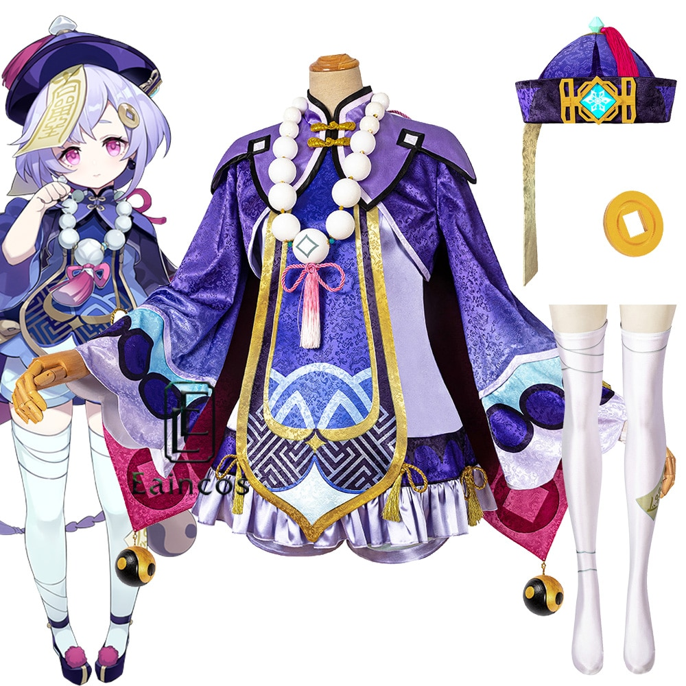 Qiqi Cosplay Game Genshin Impact Costume Party-Outfit Carnival-Dress Anime Halloween
