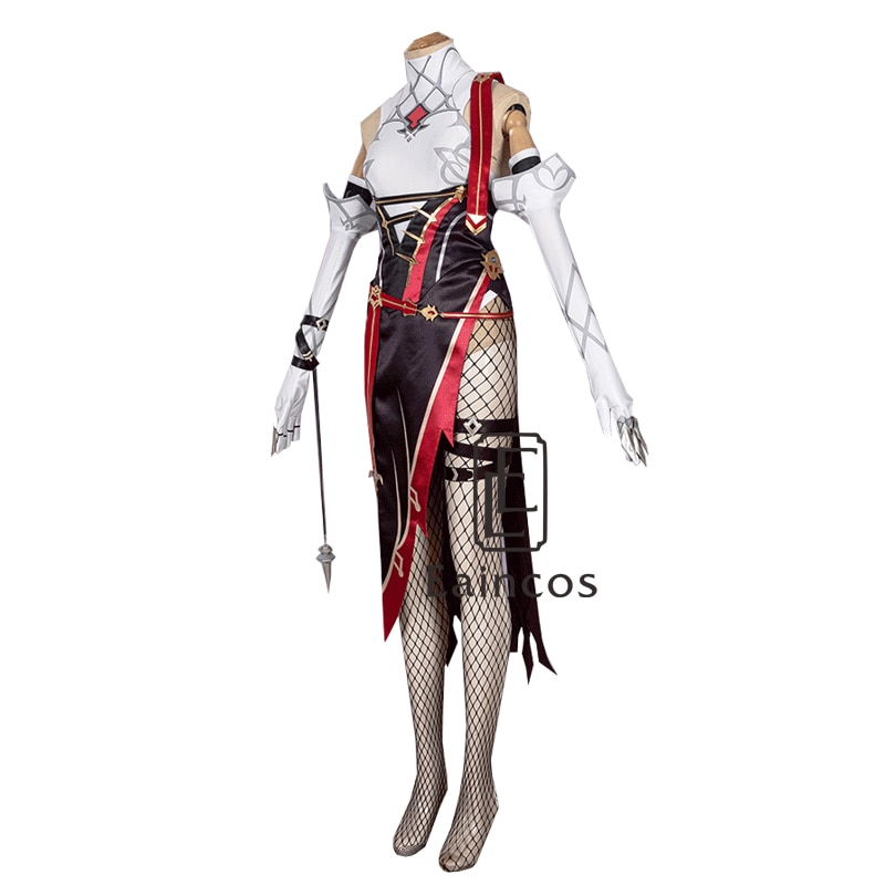 Rosaria Cosplay Costume Dress-Uniform Anime Genshin Impact Women Outfit Game-Suit