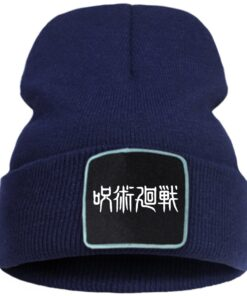 Knitted Hat Hip-Hop-Caps Anime Cotoon Winter Women Outdoor Unisex Jujutsu Print for Boys