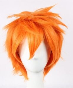 Wigs High-Quality Synthetic-Hair Anime Cosplay Hinata Haikyuu Short for Man Heat-Resistant