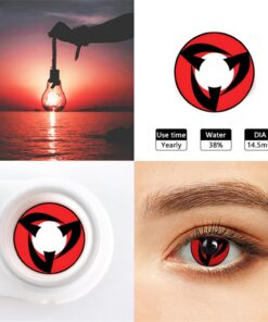 Contact-Lenses Cosmetics Eyes Red-Lens Witcher Anime Cosplay Colored Halloween Blue Naruto