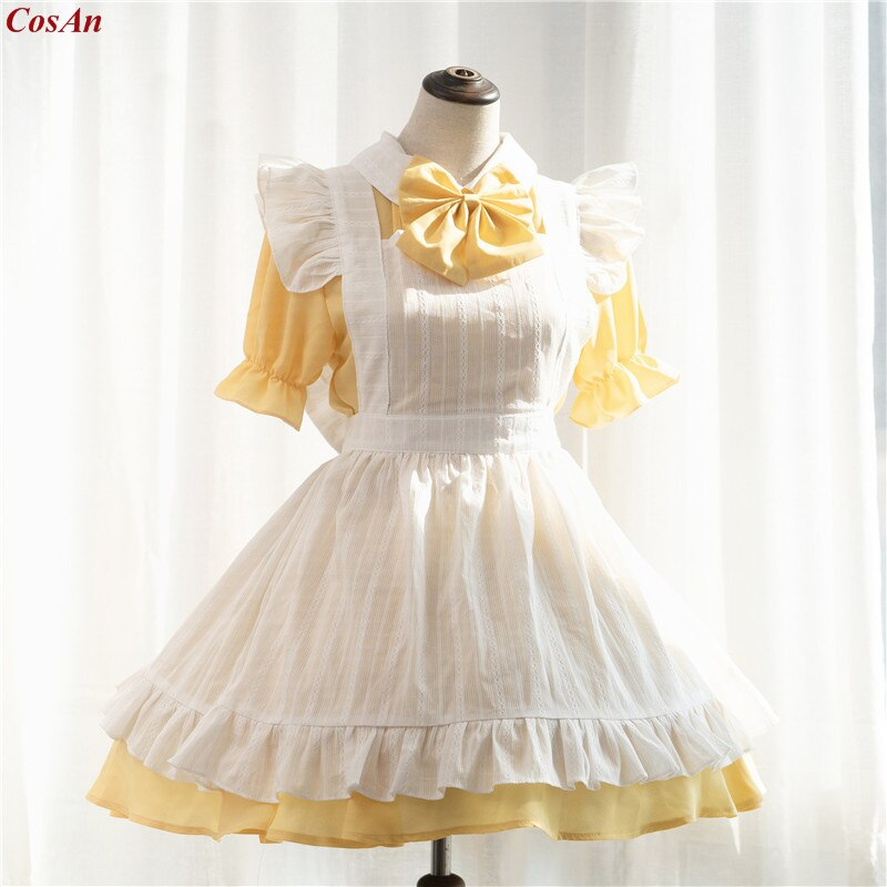 Maid Outfit Clothing Mermaid-Melody Role-Play Pichi Custom-Make Anime Party Yellow Lovely