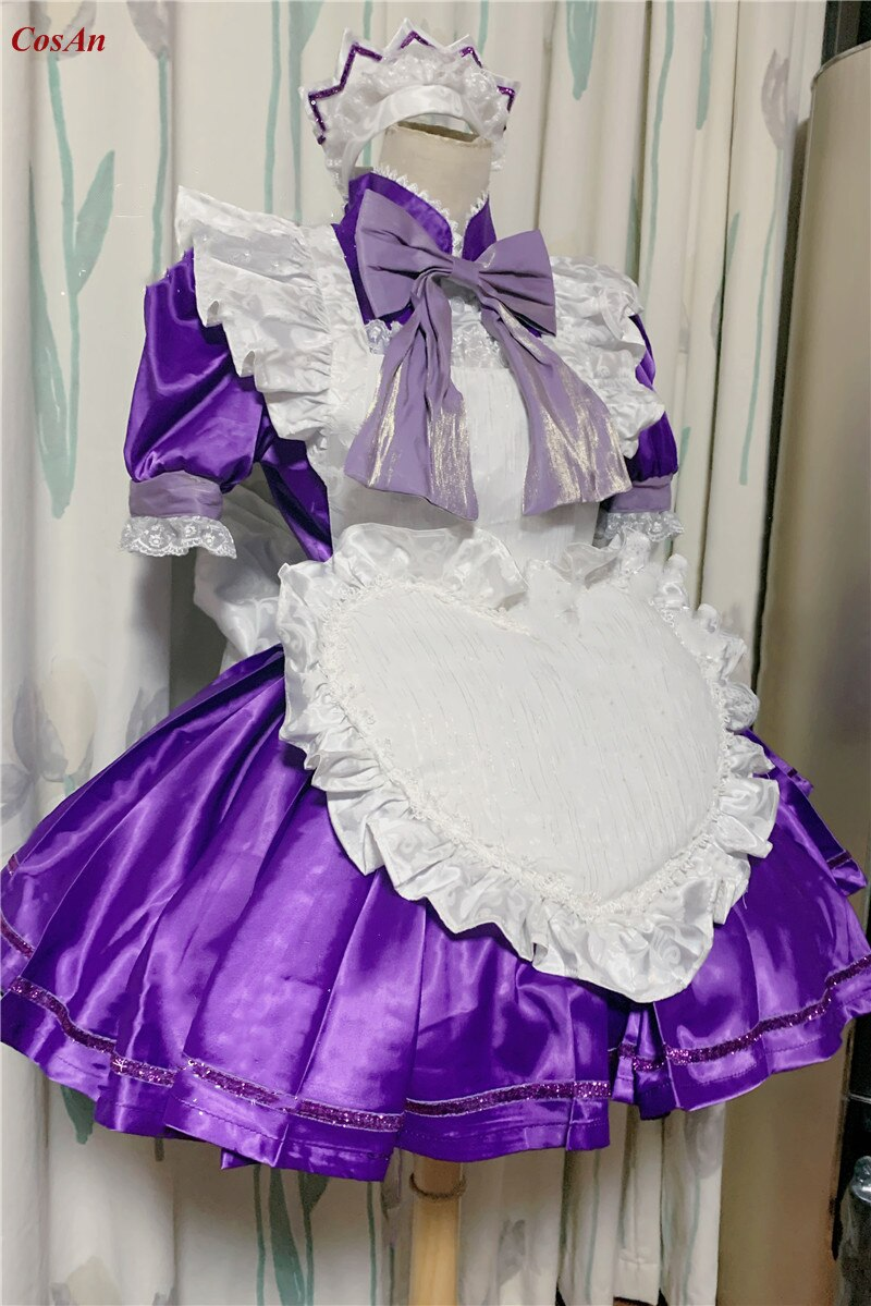 Costume Maid Tokyo Mew Mew Clothing Outfit Fujiwara Custom-Make Role-Play Anime Party
