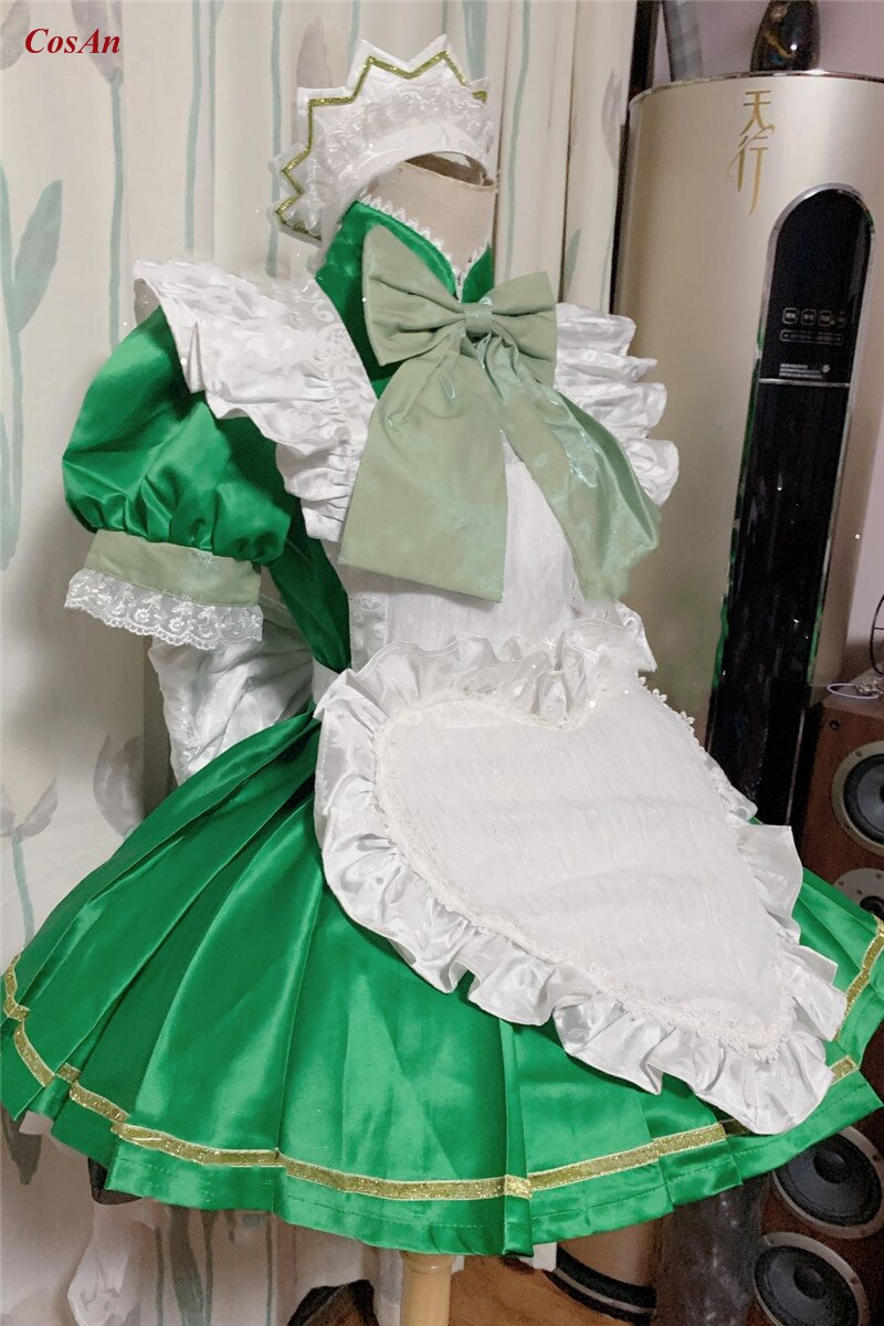 Maid Outfit Tokyo Mew Mew Role-Play Clothing Custom-Make Anime Party Midorikawa Activity