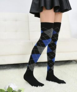 Hot Sale Anime Cosplay Plaid Stockings For Women Girls Over Knee High Fashion Lovely
