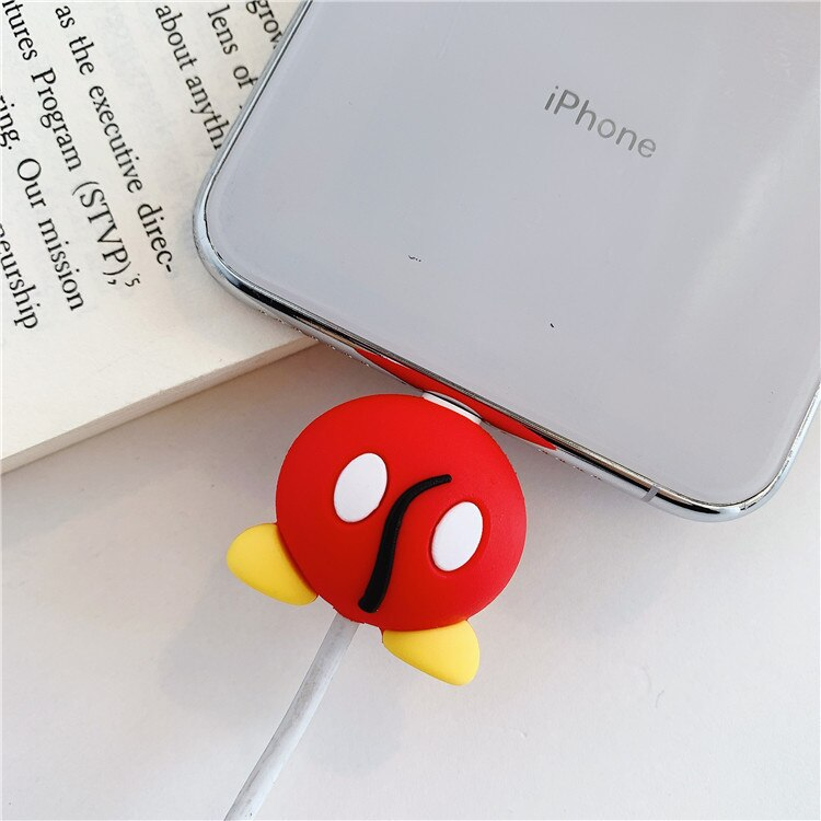 Cord-Holder Desk-Wire-Organizer Cable-Winder Phone-Cable-Protector Case Anime Silicone