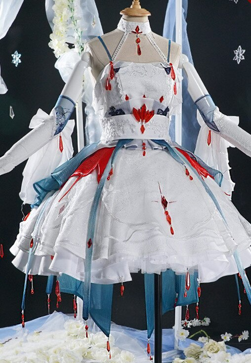 Cosplay Costume VOCALOID Wedding-Suits Woman Dress Anime Vsinger And Luo Tianyi Yan Rain