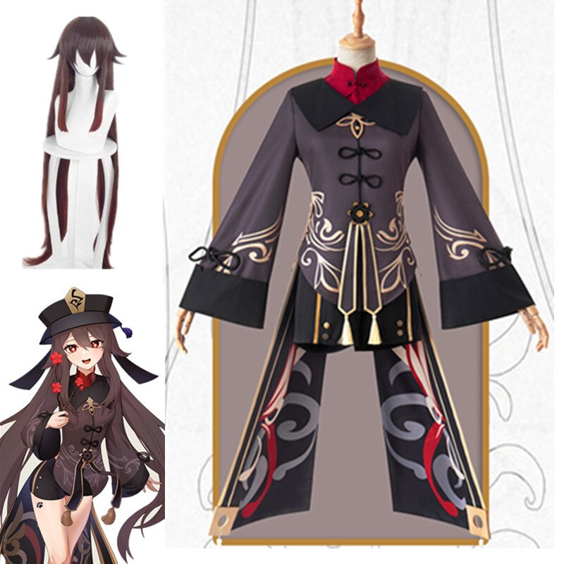 Hu Tao Genshin Impact Cosplay Costumes Anime Game alloween Carnival Women Girl Uniforms Party Clothes Wig Hat Full Sets