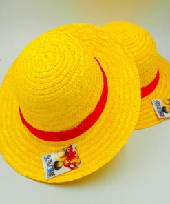 Caps Straw-Hats Luffy-Hat One-Piece Japanese Boater Breathable Cute Anime Cosplay Unisex