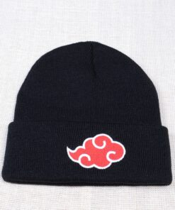 Beanies Hat Naruto Skullies Anime Japanese Women Knitted Hip-Hop Casual for Winter Solid-Color
