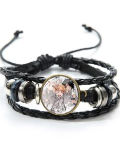 Japanese Anime The Promised Neverland Bracelet Emma Norman Ray Figures Cute Printed Glass
