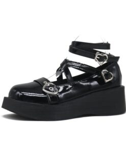 Shoes Thick-Soled Gothic Black Small JK Japanese-Style Cosplay Anime Mary