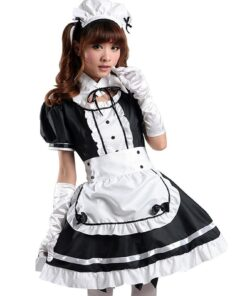 Costume Dress Anime Cosplay Lolita Black White Women Jaycosin And No Apron Maid-Outfit