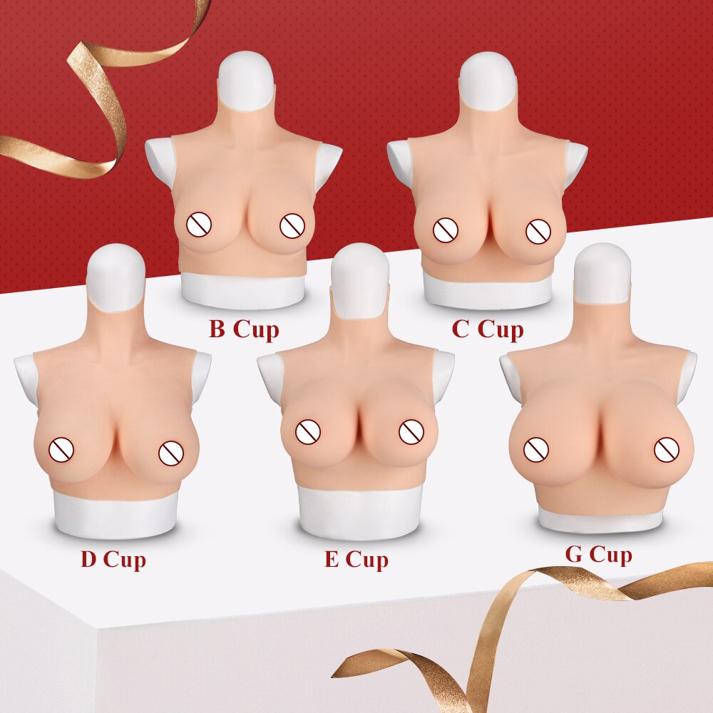 Costumes Crossdressing Breast-Forms Cospaly Drag-Queen Fake KUMIHO Huge Soft-Silicone
