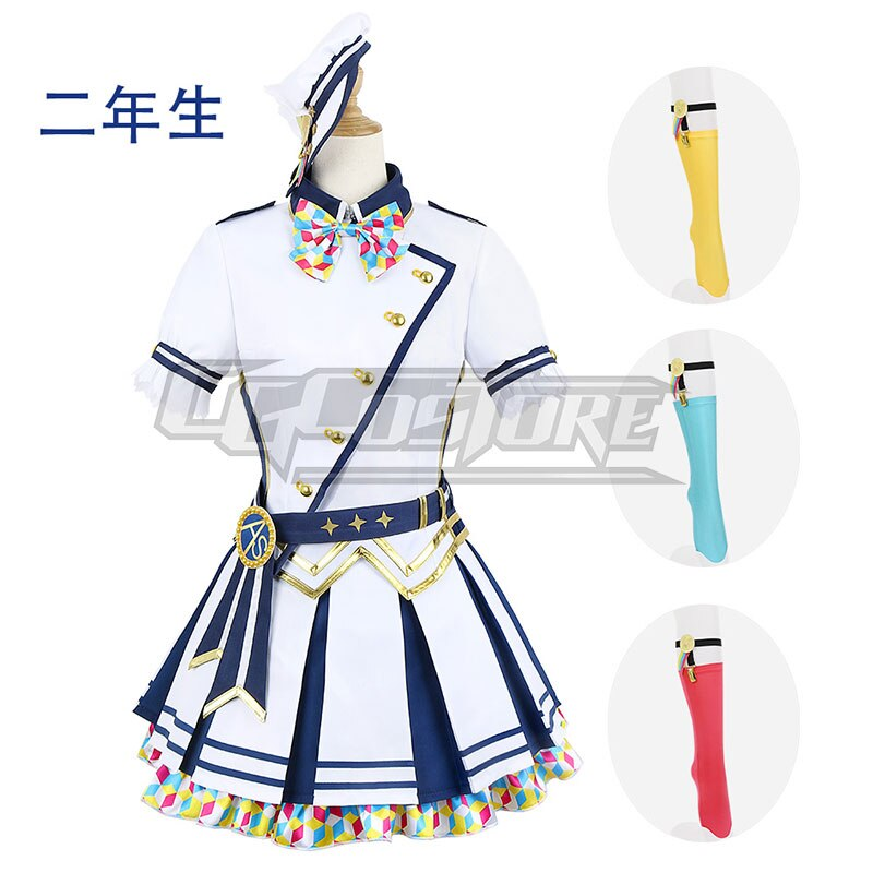 Uniform-Dresses Anime Cosplay-Costume Lovelive ONLINE Thanks-Day CG1067CZH 2nd-Grade