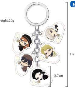 New 1pc Anime Bungou Stray Dogs Atsushi Keychain Pendant Key Rings 2021 about 11*5cm