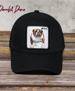 New 64 Animal Red HORSE Black Sheep Embroidery Anime Cute Embroidery Baseball Cap Summer