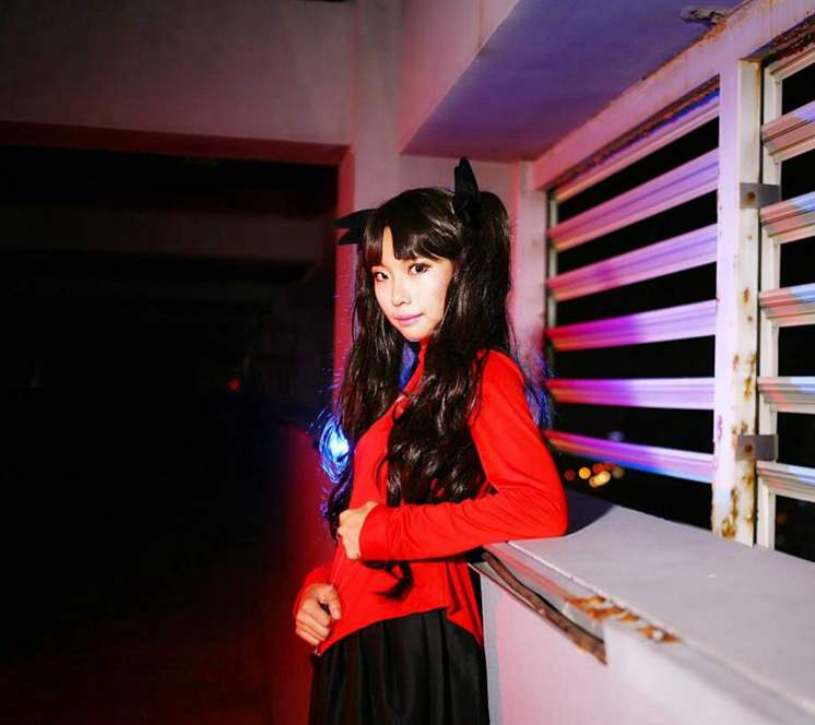 New Anime Halloween Cosplay Costume Fate/Stay Night Rin Tohsaka Uniform Dress Cos Anime for women party wig role play
