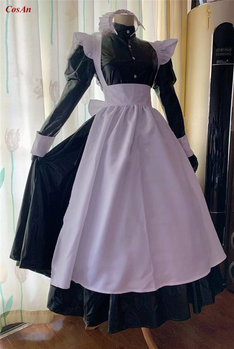 Cosplay Costume Maid Outfit Clothing Custom-Make Anime Party Black Ball Activity Roberta