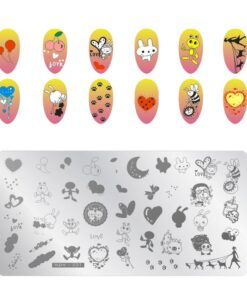 Stamp-Plate-Template Stamping Polish Nail-Art Stamper Image Manicure Print Anime Patterns
