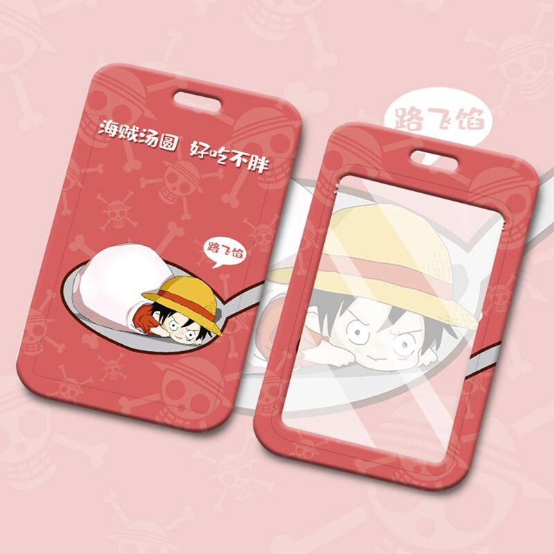 New Cartoon Anime One Piece Printed Push And Pull Card Holder Bus Card Holder