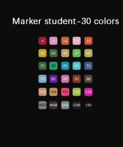 Mark-Pen Hand-Painted Anime New Oily Art-Design Double-End Primary-School-Students 12/24/30-/..