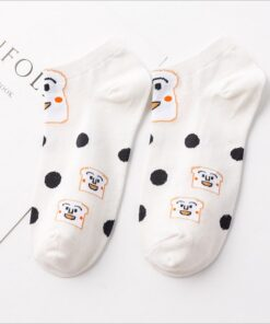 Boat Socks Anime-Style Color Cotton Summer Fashion New Unisex Embroidery Breathable