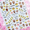 Stickers Decals Decoration Sliders Nail-Ornament Back-Glue Animal-Series Cartoon HL60