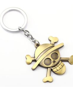 Anime Keychain Key-Ring Straw-Hat Action-Figure Cosplay Toys One-Piece Luffy for Fans