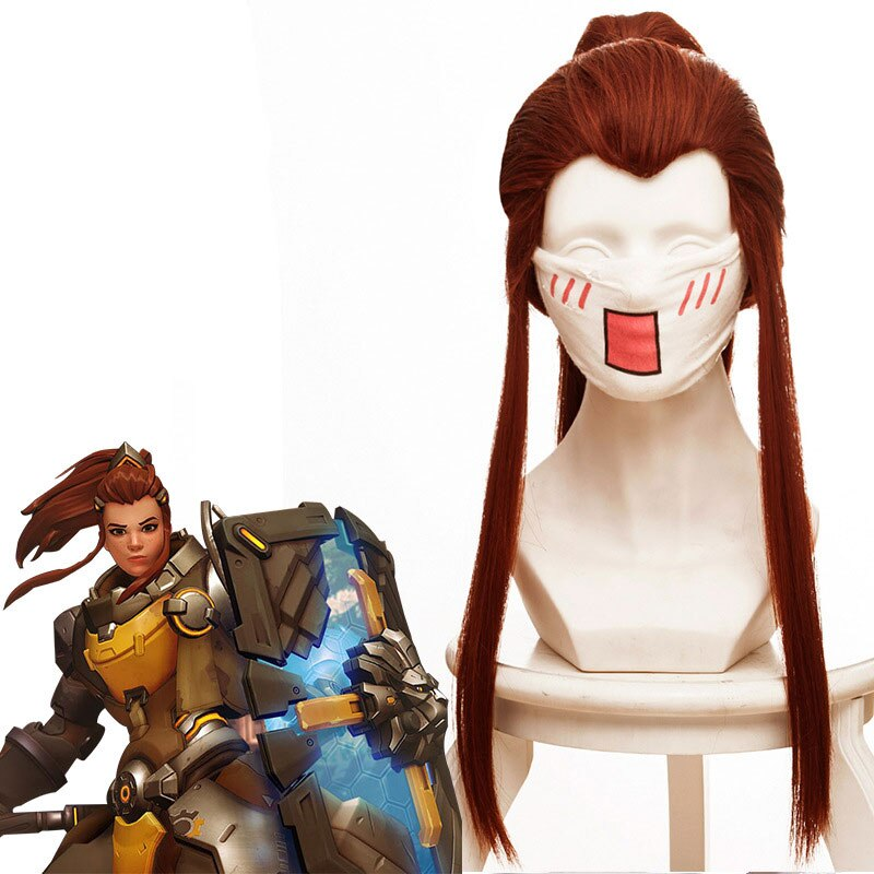 Wig Cosplay DVA Hair-Wig Ponytail Molding-Accessories Anime Overwatch Game Support Perform