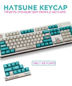 PBT 119 Keys OEM Profile Keycap DYE -SUB File Personalized Anime Keycaps For For
