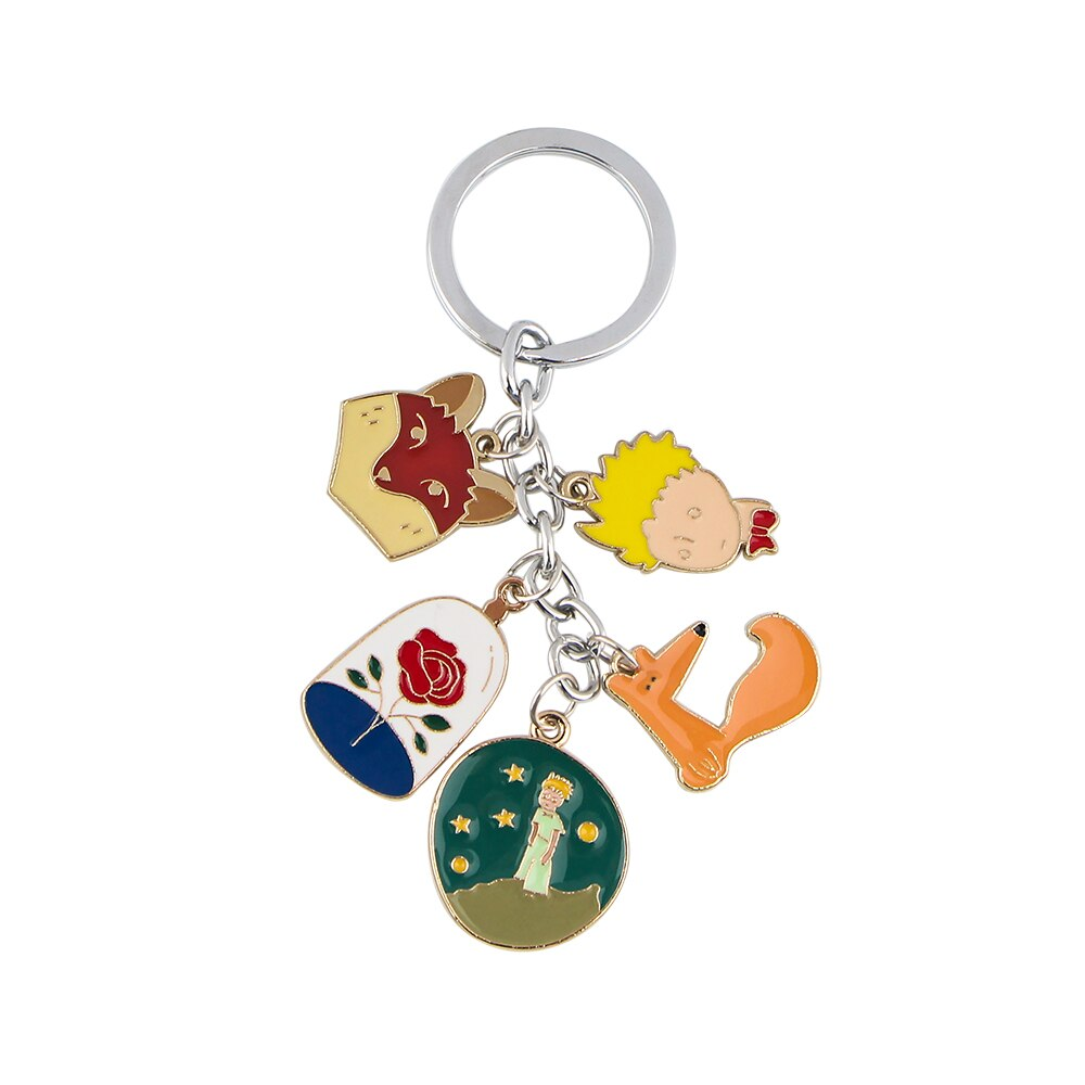 Ring Keychains Charm Anime Enamel Jewelry Key-Holder Fox-Pendant Gifts And Pf273-Dongmanli