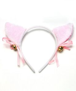 Headwear Party-Costume Masquerade Cat-Ears Cosplay Pink Kawaii Bell Bow-Tie Christmas