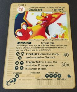 Toy Collection-Card Action-Figure-Model Pikachu Charizard Gift Pokemon-Game Gold Anime