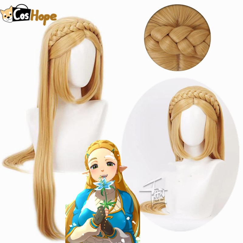 Braided Wigs Princess Synthetic Women Heat-Resistant Golden