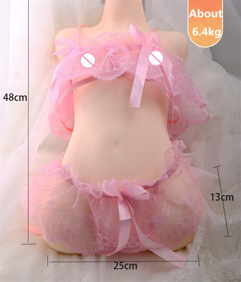 Sex-Doll Masturbation Sexy Silicone Adult-Products Anal Anime Male 3D Cat-Eye Dual-Channel