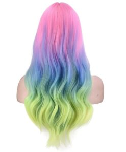 Sexy Fashion 55cm Long Curly Wigs Cosplay Costume Anime Hair New Full Wavy Party