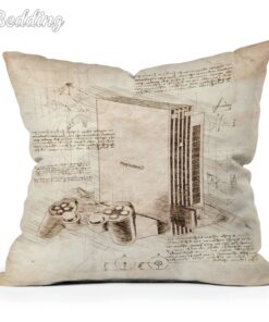 Pillow-Case Cushion-Cover Printed Anime Polyester/cotton Luxury Home for Home-Sofa-Decor